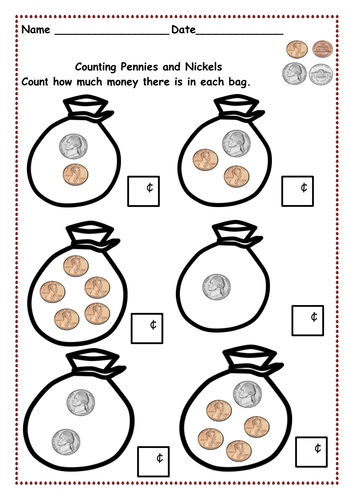 Counting Money Up To 10 Cents And Then 20 Cents Pennies