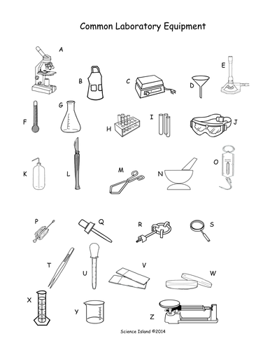 Worksheets Biology Laboratory Equipment Names lab equipment activity and puzzles by scienceisland teaching 2 pictures pdf
