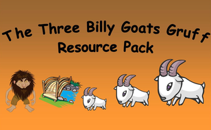 three billy goats gruff story sack
