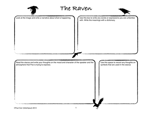 the raven by edgar allen poe comic book by kibishipaul uk teaching resources tes. Black Bedroom Furniture Sets. Home Design Ideas