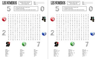 french numbers 0 20 word search and image ids worksheet by suesummersshop teaching resources. Black Bedroom Furniture Sets. Home Design Ideas