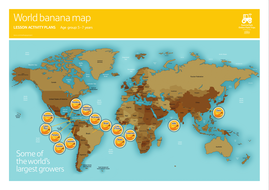 Banana world map poster 5 7 by eathappy teaching resources tes banana world map poster 5 7 gumiabroncs Choice Image