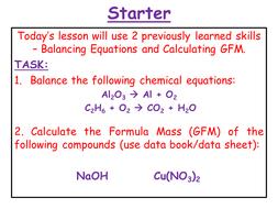 Chemistry - % Yield