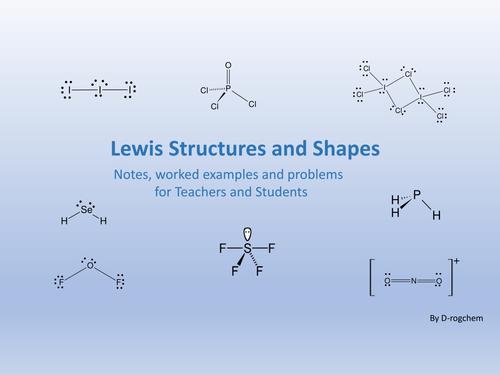 chemistry lewis structure and molecular shape problems by drogchem teaching resources tes. Black Bedroom Furniture Sets. Home Design Ideas