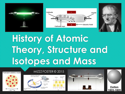 Featured Author Melanie Foster Atomic Theory, Atomic Structure, Isotopes and Atomic Mass Powerpoint