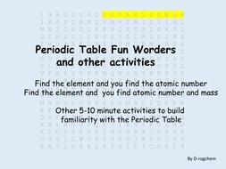 Periodic table fun worder including atomic numbers and other periodic table fun worder including atomic numbers and other activities urtaz Choice Image