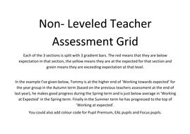 Non-levelled Teacher Assessment Grid