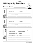 bibliography template for students