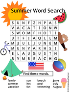 Book - How I Spent My Summer Vacation Word Search I abcteach.com - large