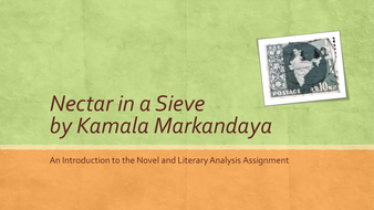 Introduction to Nectar in a Sieve with Literary Analysis Assignment