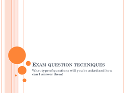 Business Studies Exam techniques