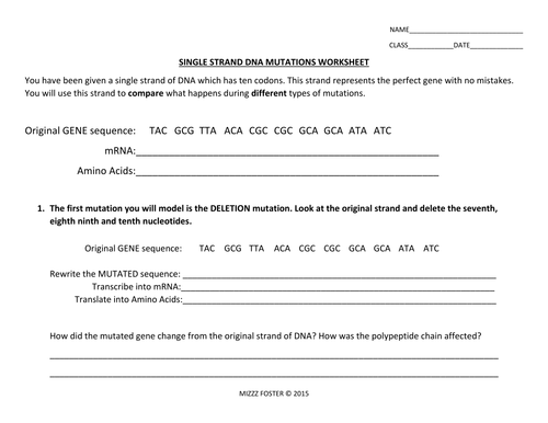 Collection of Gene Mutations Worksheet Sharebrowse – Genetic Mutations Worksheet