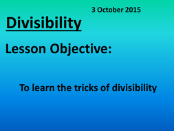 divisibility.ppt