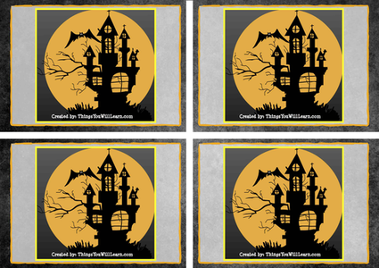 Halloween Resources: Math Word Problem Task Cards (Super Scary)