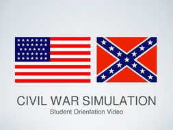 American Civil War Simulation Student Orientation  Power Point and Keynote Presentations
