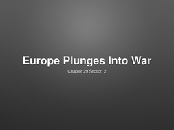 WWI-Europe-Plunges-Into-War.pptx