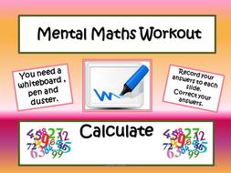 Mental Maths Workout- Starters and Plenaries