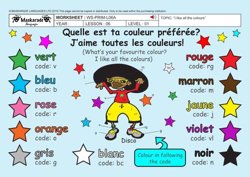 FRENCH-Y3/4-AT SCHOOL: Les couleurs/ Colours/ Chantons! J\'aime ...