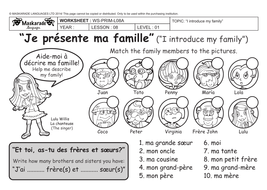 FRENCH-Y3/4-AT SCHOOL- My family/ Ma famille