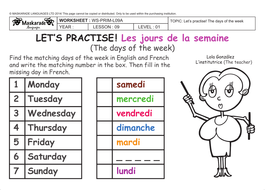 Noun Group Worksheets Printable Pdf Frenchyat School The Days Of The Week Les Jours De La  Simplify The Radicals Worksheet Word with Estimating Weight Worksheet Word Frenchksyydaysofthe  Adding And Subtracting Monomials Worksheet