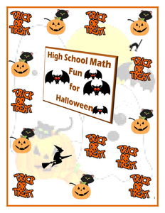 Halloween Resources: Math Worksheets-High School