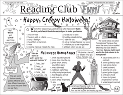 Halloween Homophones Two-Page Activity Set