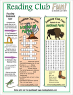 National Parks Bookmark Puzzles