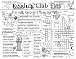 Word Meanings Prefixes and Suffixes Two-Page Activity Set
