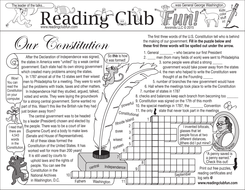 U.S. Constitution Two-Page Activity Set