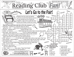 Town and State Fairs Two-Page Activity Set