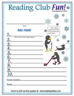 Winter Reading Log & Certificate