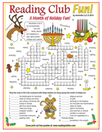 December Holidays and Customs Crossword Puzzle