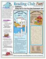 World Explorers Going Out to Sea Puzzling Bookmarks