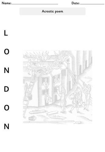 The Great Fire of London pack: Powerpoint, worksheets