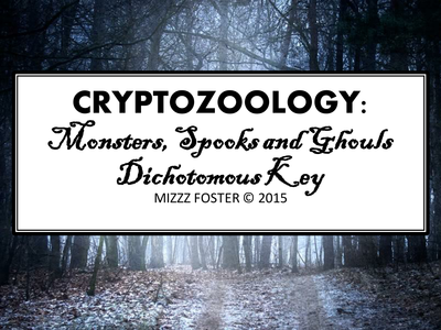 Halloween Resources: Cryptozoology Dichotomous Key: Monsters, Spooks, And Ghouls