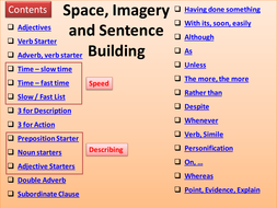 space complex sentence builder by robwilktes teaching resources tes