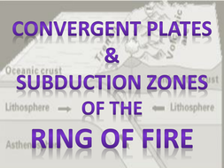 Convergent Plates-Subduction Zones at Ring of Fire