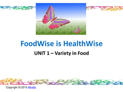 COMBO:  FoodWise is HealthWise  UNIT 1 –Variety in Food  WITH  Pyramid Order, a Way of Life -HANDOUT