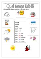 FRENCH - WEATHER - Quel temps fait-il? - Worksheets