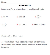 Ratio and Proportion Lesson Plan
