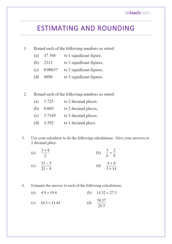 Significant Figures - Rounding and Estimating using Significant ...