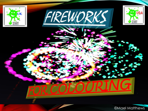 Bonfire Night Fireworks Colouring Book