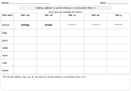 SPaG Year 2 Spelling Adding the endings ing ed er est and y to – Adding Ed and Ing Worksheets