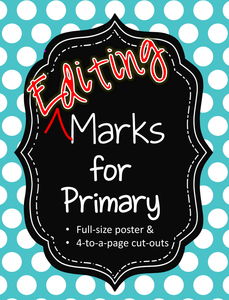 Classroom Management Tips: Editing Marks for Primary