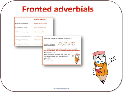 SPaG Year 4 Sentence Grammar: Fronted adverbials by highwaystar ...