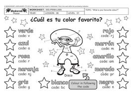 SPANISH-AT-SCHOOL-Y3-Y4-The colours/ los colores by