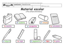 spanish at school y3 y4 school stationery material escolar numbers 11 20 los n meros de 11 a. Black Bedroom Furniture Sets. Home Design Ideas