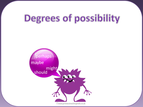 Spag Year 5 Sentence Grammar Degrees Of Possibility Using Adverbs