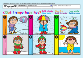 SPANISH-AT-SCHOOL-Y3-Y4: Weather expressions/ What\'s the weather ...