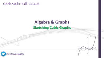 Graphs Drawing And Sketching Cubic Functions Gcse Maths 9 1